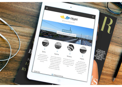 Xibre Digital Web Design Featured Portfolio - Cenag Solar 2