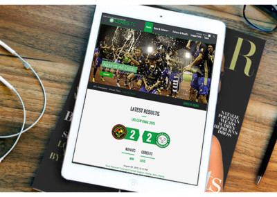 Xibre Digital Web Design Featured Portfolio - Ceres La Salle Football Club 1